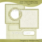 Green Floral & Gingham Check Porthole Card(Retiring in August)
