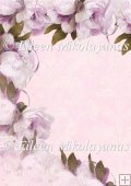 Damask Cascade of Peonies Backing Background Paper