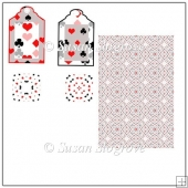 Heart Club Diamond Spades Tags Teabag Tiles and Backing Sheet
