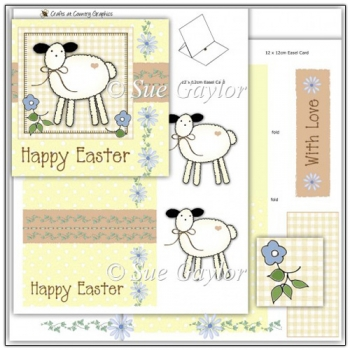 Easter Lamb Easel Card