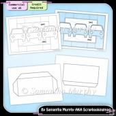 Car Tri Shutter Card & Envelope Template Commercial Use Ok