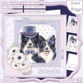 COLLIES COUPLE 7.5 Decoupage & Insert Card Kit
