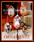 Set of 5 Halloween Dimensional Ornaments