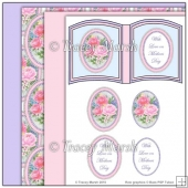 Mothers Day Roses Open Book Page Set