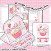 Birthday Cupcake Easel Card Download