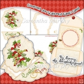 Comfort & Joy Scalloped Easel Card Download