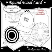 Round Easel Card Template