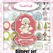 Bumper Scalloped small easel card set
