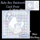 Baby Boy Patchwork Card Front