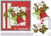Christmas bells and flowers 7x7 card