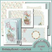 Birthday Basket ~ Gatefold Card