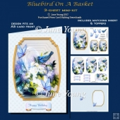 Bluebird on a Basket - 3-Sheet mini-kit