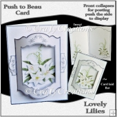 Push to Beau Card - Lovely Lilies
