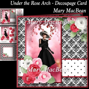 Under the Rose Arch - Decoupage Card