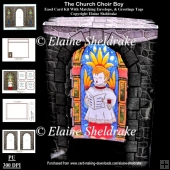 The Church Choir Boy 3D Pop Out Concertina Box Card Kit