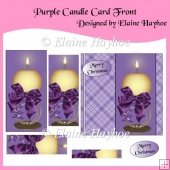 Purple Candle Christmas Pyramage Card Front