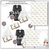 PNC GSD Wedded Bliss Decoupage Set Cutting Machine File