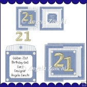 GOLDEN 21st FOLDBACK CARD