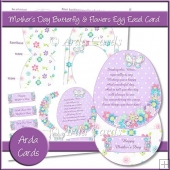 Mother's Day Butterfly & Flowers Egg Easel Card