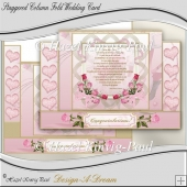 Staggered Column Fold Wedding Card