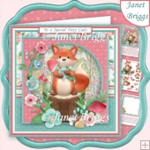 FOXY LADY 8x8 Decoupage & Insert Kit