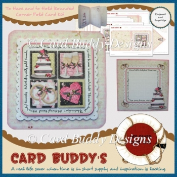 To Have and to Hold Rounded Corner Fold Card Kit