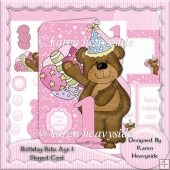 Birthday Babs Age 1 Shaped Card