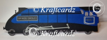 Train Steam Engine Card Layered Sir Nigel Gresley SVG/SCAL/GSD/F