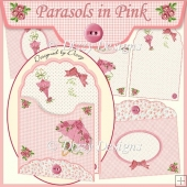 Parasols in Pink - Scalloped Top Envy Card