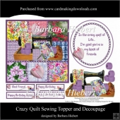 Crazy Quilt Sewing Topper and Decoupage