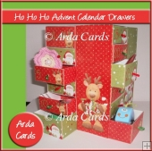 Ho Ho Ho Advent Calendar Drawers