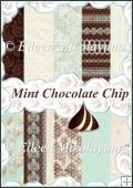 Mint Chocolate Chip Background Backing Papers Set of 10