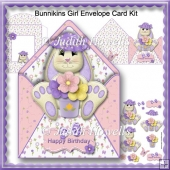 Bunnikins Girl Envelope Card Kit