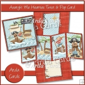Aaargh Me Hearties Twist & Pop Card