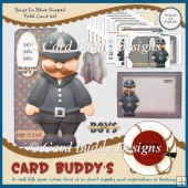 Boys In Blue Shaped Fold Card Kit
