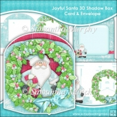 Joyful Santa (2) 3D Shadow Box Card & Envelope