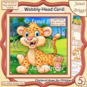 DON'T HAVE AGE SPOTS LEOPARD WOBBLY HEAD CARD Decoupage Kit