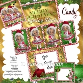 Christmas Candy 3D Twist and Pop Card Kit