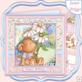 DAISY BEAR 8x8 All Occasions Decoupage & Insert Kit