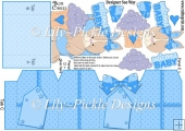 New Baby Boy Bunny Box Card