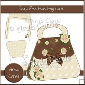 Ivory Rose Handbag Card