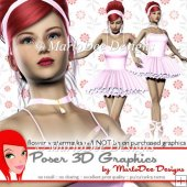 Pretty Ballerina Girl Poser Graphics Set 6