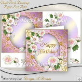 Gilded Floral Decoupage Topper/Card Front
