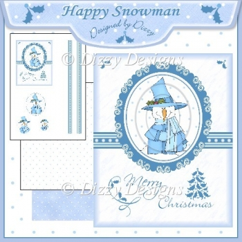 Happy Snowman - Pyramage Card Front