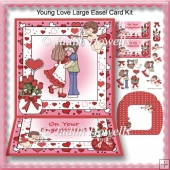 Young Love Large Easel Card Kit