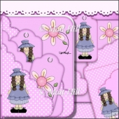 Lil Doll Scalloped Pocket Card
