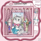 KITTEN IN WINDOW 8x8 Decoupage & Insert Kit