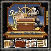 Pirate Easel Card Mini Kit