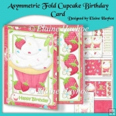 Asymmetric Fold Cupcake Birthday Card