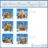 Little Winter Houses Toppers Set 2